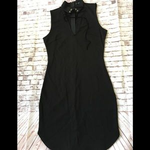 NWT Forever  21 black knit bodycon dress size M